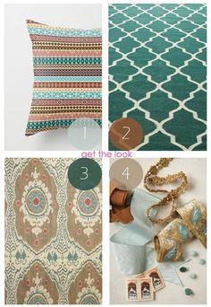 belle maison: Color Palette Inspiration :: Teal & Rust Living room