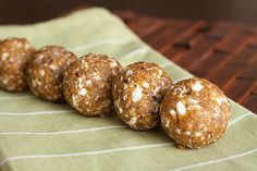 """Who's doesn't love Peanut Butter? You will love this dessert/energy """"ball"""" recipe ..."""