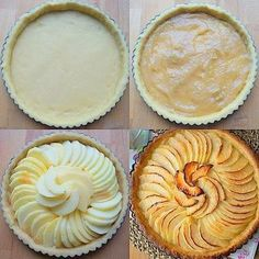 Apple pie (the best Apple Pie Recipes, My Recipes, Sweet Recipes, Cake Recipes, Dessert Recipes, Apple Pies, Mousse Au Chocolat Torte, Pear Dessert, French Desserts