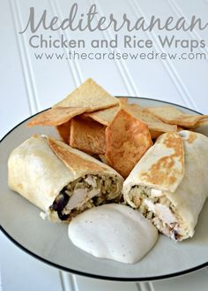 Mediterranean Chicken and Rice Wraps from The Cards We Drew #JustAddRice #ad