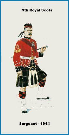 BRITISH ARMY - Royal Scots, 9th Battalion, Colour Sergeant, 1914
