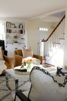 Design blogger Kristin Cadwallader's new project house: before shots via Bliss at Home
