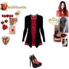 Maxine Heart - Daughter of the Queen of Hearts by maxinehearts on Polyvore featuring Yumi, Lipsy, TaylorSays, Dolce&Gabbana, Once Upon a Time, Liz Claiborne, Tarina Tarantino, Liz Law, disney and OC