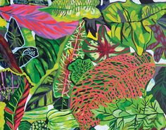 esthersandler:  Beautifully lush leafy paintings by Clement Ooi are making me happy on a rainy Friday..