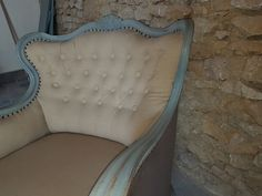 vintage bútor, shabby chic stílusú fotel Country Chic, Shabby Chic, Accent Chairs, Armchair, Modern, Furniture, Home Decor, Diy, Chic