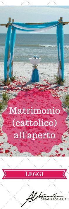 Matrimonio (cattolico) all'aperto in Italia