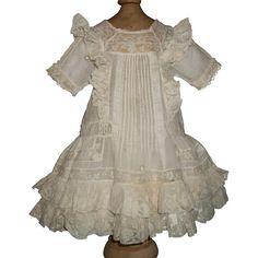 Beautiful Antique Batiste Doll Dress, French / German