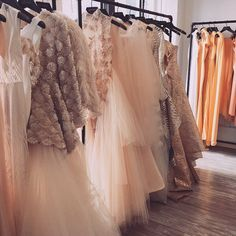 Blush pink and nude creations in our showroom today. #Spring2016 #ChristianSiriano