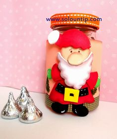 Confectioners decorations with glass bottles and rubber eva Diy Adornos, Christmas Diy, Christmas Ornaments, Candy Bouquet, Glass Bottles, Snow Globes, Teddy Bear, Diy Crafts, Toys