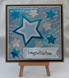 Tinyrose's Craft Room: Congratulations - Stars made using Visible Image stamps and a star die set.