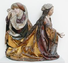 Tillmann Riemenschneider_Trauernde Frauen ca. Wooden Statues, Wooden Art, Wooden Decor, Medieval Crafts, Medieval Art, Catholic Art, Religious Art, Bode Museum, Romanesque Sculpture