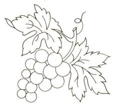 j Fruits - Album photos - Broderie d'Antan Fruit Coloring Pages, Colouring Pages, Coloring Books, Wool Applique, Applique Patterns, Craft Patterns, Hand Embroidery, Machine Embroidery, Embroidery Designs