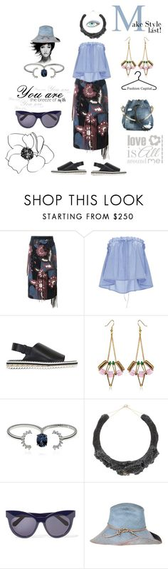 """Make style last!"" by zabead ❤ liked on Polyvore featuring Burberry, E L L E R Y, Givenchy, SCHO, Maison Margiela, Noritamy, Karen Walker, Lisa Battaglia and Dsquared2"