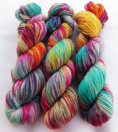 handgefärbte Sockenwolle  75  Wolle 25 Polyamid von Piratenwolle
