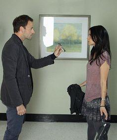 Jonny Lee Miller and Lucy Liu in Elementary