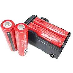 ON THE WAY4pcs 37V 18650 4000mah Rechargeable Liion Battery with PCB and 18650 battery Charger for LED Flashlight Headlamps search light lamp etc * Learn more by visiting the image link.