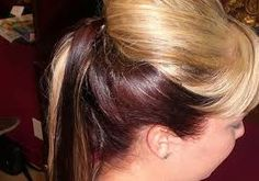 Image result for two tone hair color