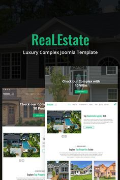 ReaLEstate - Luxury Complex Joomla Template is based on Helix Framework and SP Page Builder PRO as page builder, Layer Slider and for ecommerce Real Estate Templates, Security Logo, Form Builder, Web Design Software, Joomla Templates, Change Image, Design Tutorials