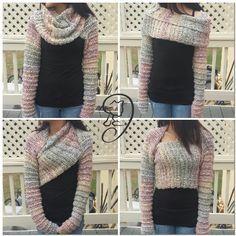 Antonia Wrap Around Shrug - Free crochet pattern by Jarta Jasmine Designs.