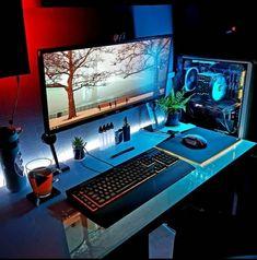 gaming gamer xbox razer racing Casque Gamer - Techno World Computer Desk Setup, Gaming Room Setup, Pc Desk, Pc Setup, Xbox, Playstation, Video Fr, Simple Computer Desk, Video Game Rooms