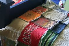 t-shirt quilt. Very cool