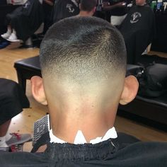 unnamed model with buzzcut