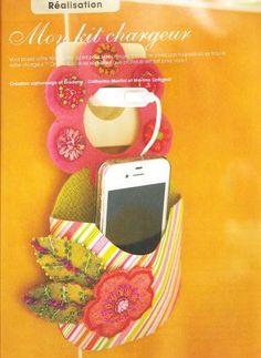 DIY tuto porte iphone porte telephone par Martine Lintignat et Catherine Martini