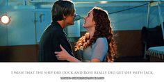 Titanic Confessions.  Who doesn't think this? I've always wondered what would've happened if Jack lived and they got off together