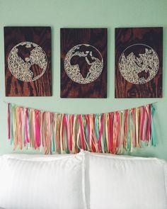 Globe String Art by simplyAellen on Etsy