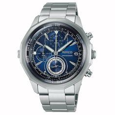WIRED ワイアード SEIKO セイコー THE BLUE ザ ブルー SKY スカイ  クロノグラフ 腕時計 メンズ ブルー AGAW419