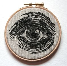 Embroidered Hand Stitched Illustration  by Sam Gibson