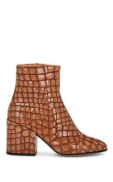 21a6ef48c146 Cap-Toe Stamped Leather Ankle Boots Leather Ankle Boots