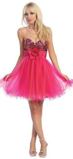 short fuchsia tulle dress
