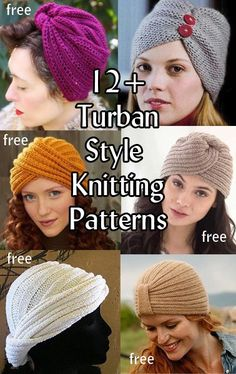 Free Turban Inspired Knitting Patterns at http://intheloopknitting.com/turban-hat-knitting-patterns/