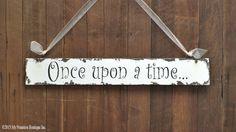ONCE UPON A TIME Sign Wooden Sign Wedding par MyPrimitiveBoutique
