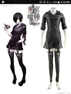 More information  sc 1 st  Pinterest & Tokyo Ghoul Cosplay Costume Women female Ken Kaneki Uniform Anime ...