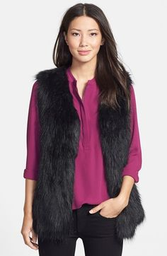 Via Spiga Faux Fur Vest (Online Only) on shopstyle.com