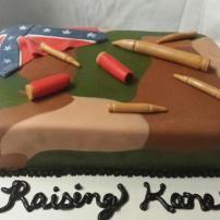 Camo Hunter - Confederate Flag Cake