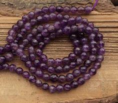 Аметист шар 6 мм огранка бусины камни для украшений. Amethyst. Handmade.