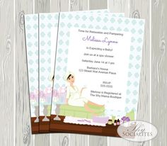 Spa Baby Shower / Spa Party / Baby Shower by ShySocialites on Etsy, $15.00