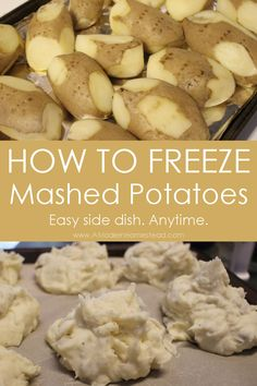 How to freeze mashed potatoes for later! I love this idea! Make a bunch at once and have them ready to go. you could also freeze left over mashed potatoes this way too! Looks like the easiest one I've found! Freezing Mashed Potatoes, Homemade Mashed Potatoes Recipe, Left Over Mashed Potatoes, Can You Freeze Potatoes, Freezing Vegetables, Frozen Vegetables, Freezing Fruit, Freezing Carrots, Cooking Tips