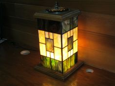 Prairie Style Lantern made by me - Designed by Scott Haebich. It is made using Uroboros Art Glass