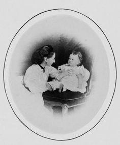 Alice of Great Britain, Princess Louis of Hesse and by the Rhine with her second daughter Elizabeth (Ella) (1864)