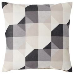 IKEA - SVARTHÖ, Cushion cover, beige, Jacquard weave gives the cushion cover a pattern with a subtle, slightly raised relief. The zipper makes the cover easy to remove. Sofa Cushion Covers, Cushion Pads, Throw Pillow Covers, Ikea Sortiment, Ikea Canada, U Shaped Sofa, Recycling Facility, Ikea Family, Large Sofa