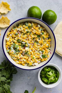 Spicy Mexican Street Corn Salad Easy recipes and simple tips for living a healthier, happier life!You are here: / / Spicy Mexican Street Corn SaladSpicy Mexican Street Co Taco Side Dishes, Mexican Side Dishes, Best Side Dishes, Corn Salad Recipes, Corn Salads, Corn Pasta Salad Recipe, Mexican Food Recipes, Vegetarian Recipes, Mexican Appetizers