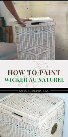 Painted Outdoor Furniture, Painting Wicker Furniture, Furniture Makeover, Diy Furniture, Spray Paint Wicker, Wicker Hamper, Stripping Paint, Painted Baskets, Trust