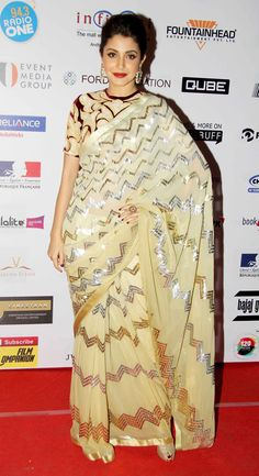 Anushka Sharma at MAMI 2014 closing ceremony. #Bollywood #Fashion #Style #Beauty