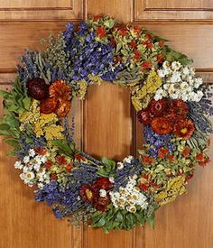 Fields of Tuscany Wreath - Preserved for $65