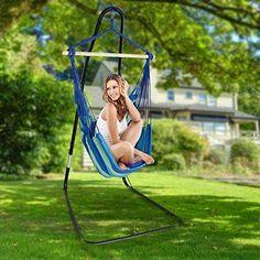 Hammock Swing Chair Outdoor Patio Furniture Seat w/ Holder Stand Yard Sturdy NEW #Kbrand
