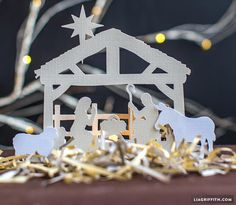 """Lia Griffith, designer of this cute Nativity Scene, says: - """"We are offering this sweet nativity scene as a freebie to all of our reade..."""